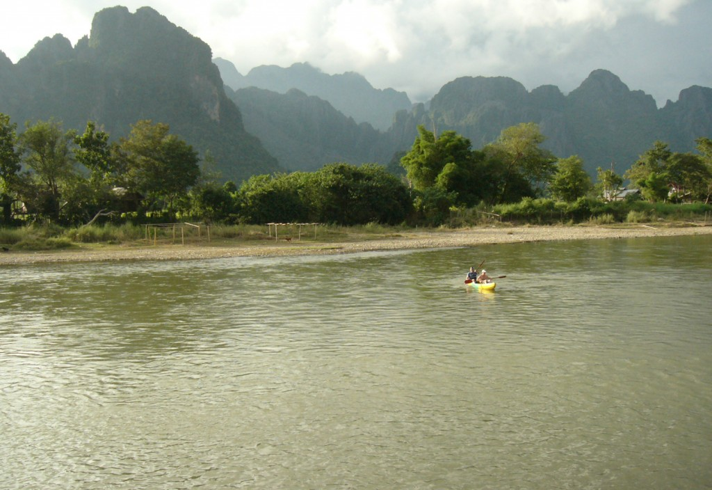kayaking laos
