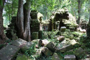 The ruins of Phnom Koulen pre-date Angkor.