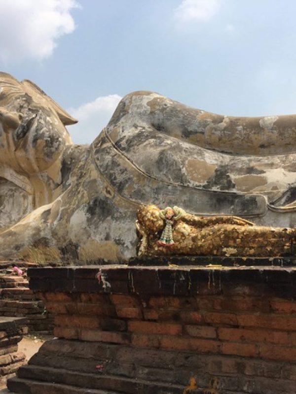 Ancient Ayuthaya - small buddha, big buddha, sleeping buddha