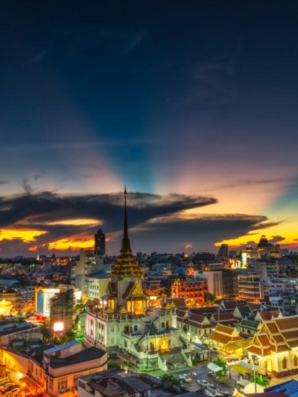Bangkok Colourful Cityscape dusk