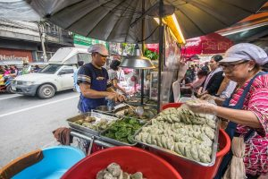 Chive dumplings bangkok vegetarian food THA
