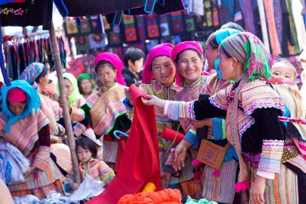 Flower H'Mong Market Sapa Vietnam